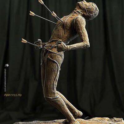 Surajit sen arrowhex digital sculpture surajitsen nov2019