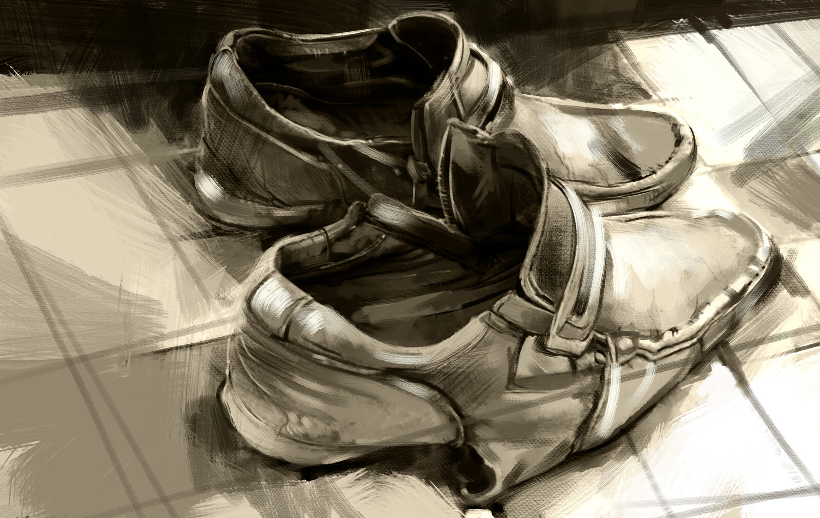 construction labor boot drawing