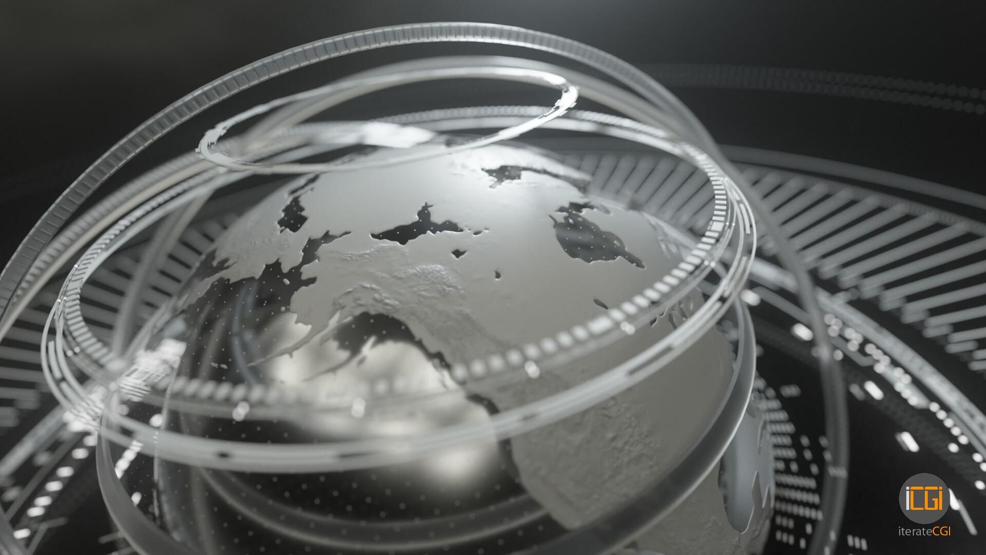 Johan de leenheer globe motion graphic 11