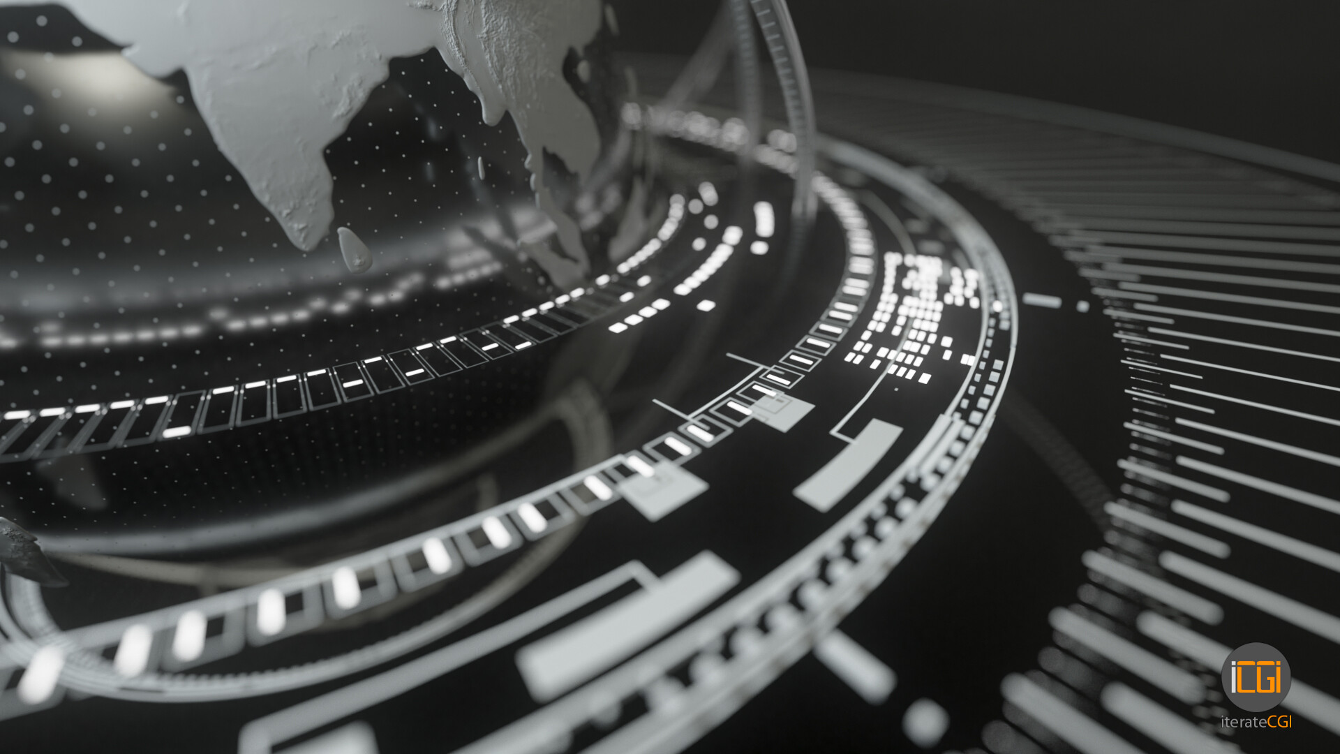 Johan de leenheer globe motion graphic 7