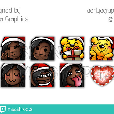 Aerlya graphics sample emotes christmas