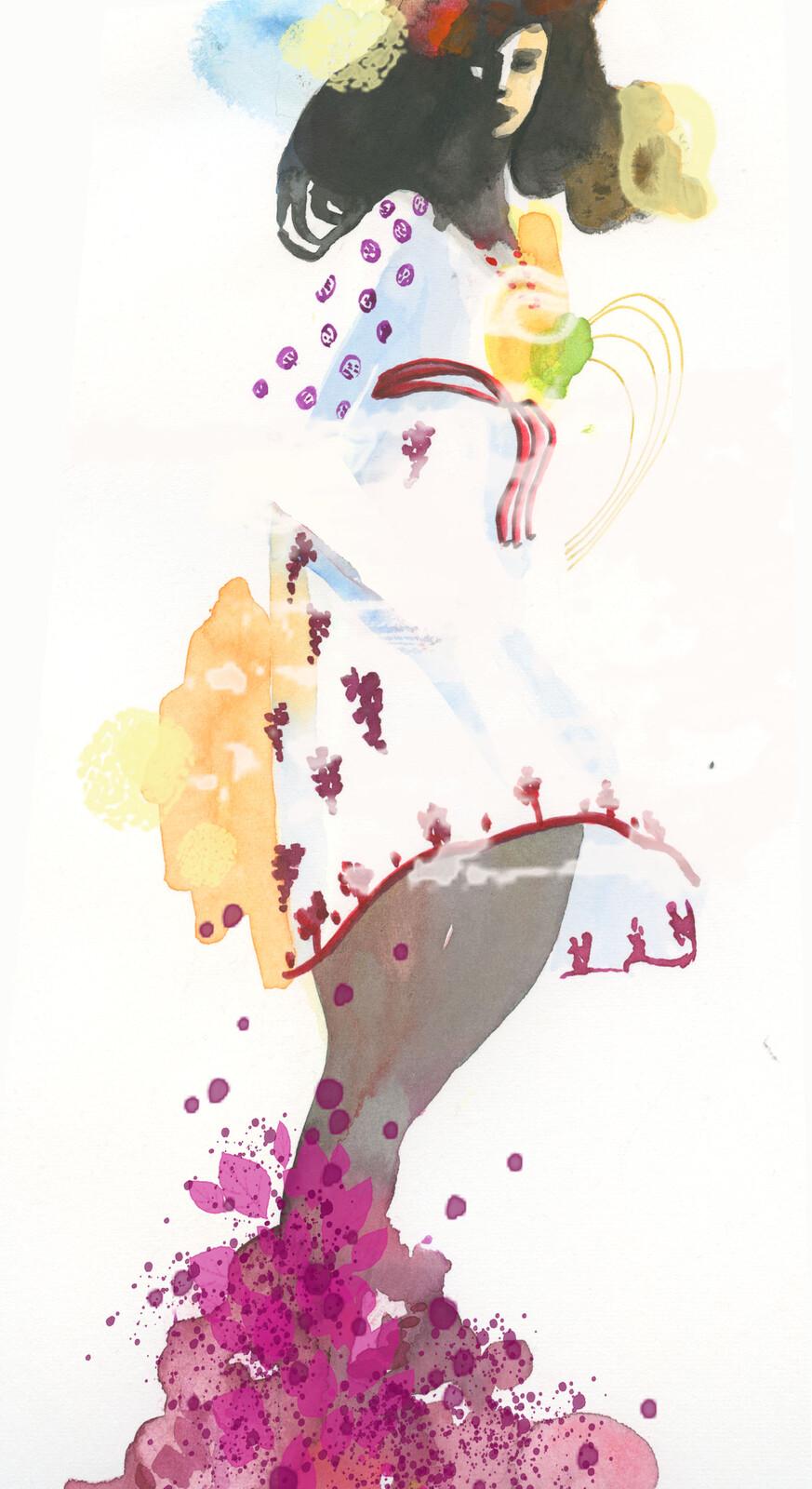 Irene wine dancing