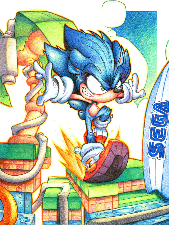 Artstation Commission Sonic The Hedgehog Rob Duenas