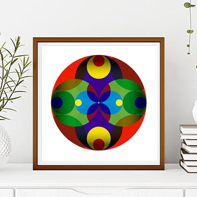 Rajesh r sawant circle design framed4