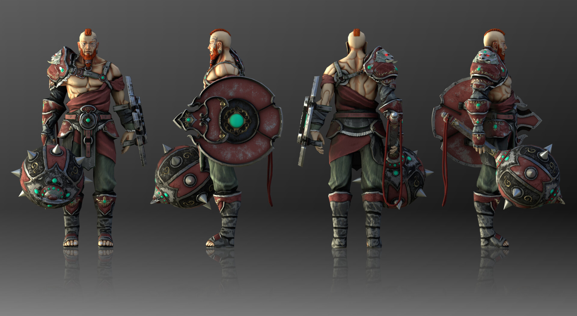 Ulan : Gladiator training tutor.  3D by R.David Presa 2D by Naranbaatar Ganbold