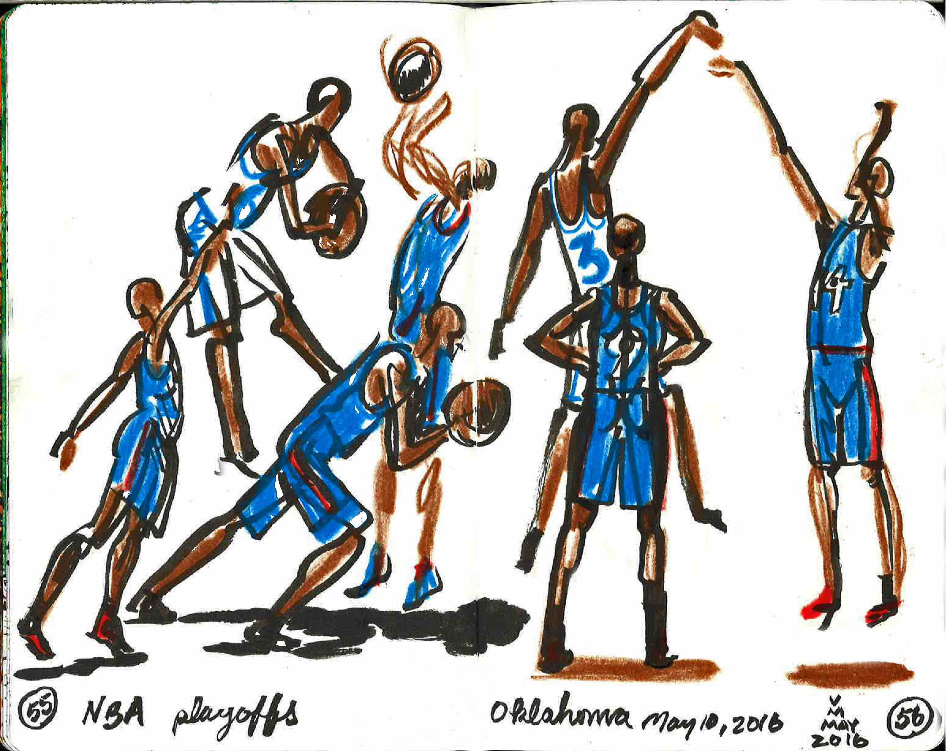 Watching real Athletes in action, Internet and Television are a great source, but don't freeze frame, try to draw from what you remember the action to be.