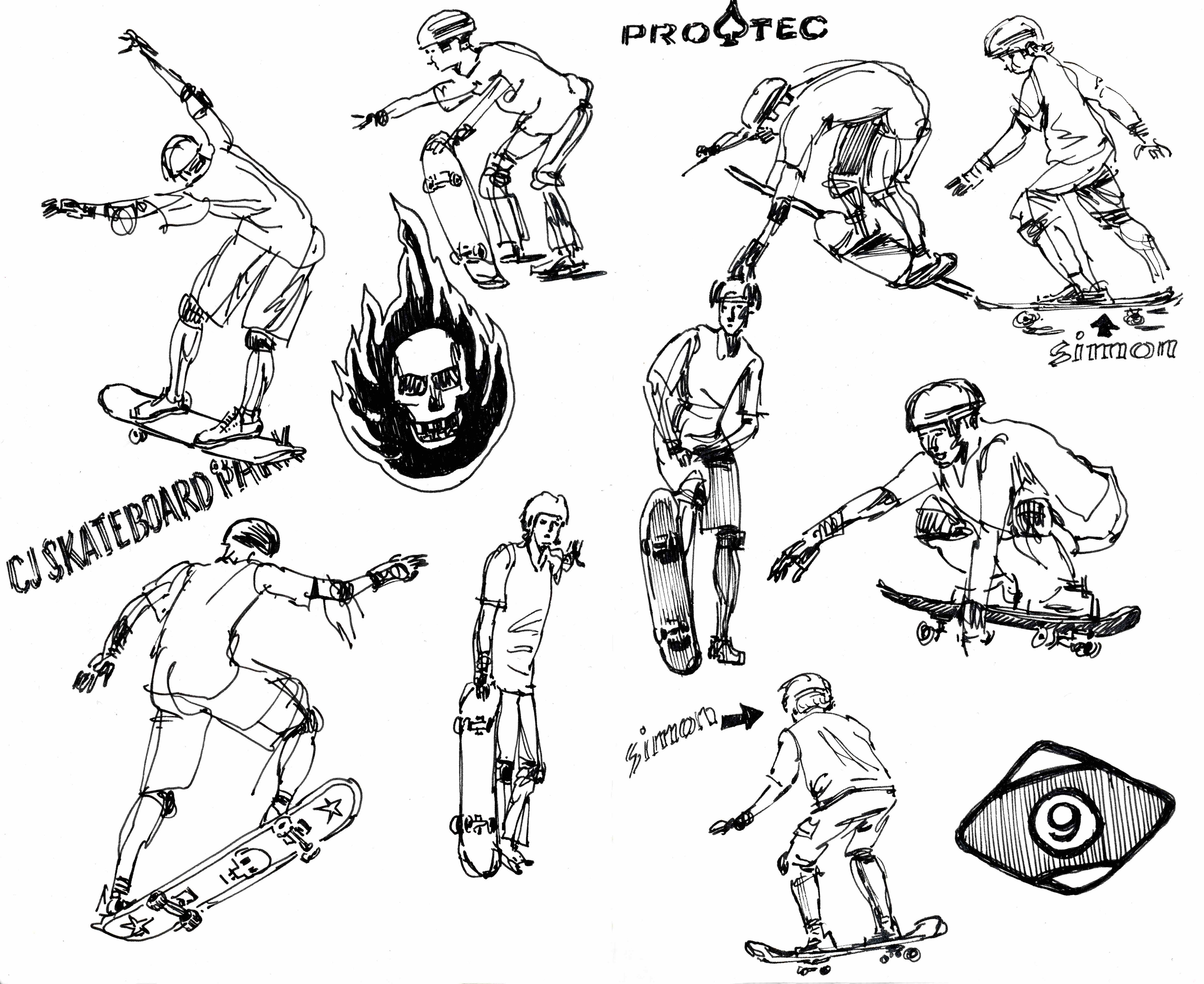 Skateboarders live and in action. On location at CJ Skateboard Park!