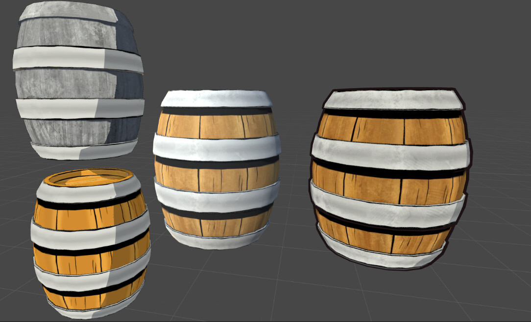 2 different colour passes into one texture map inserted into the 'Realtoons' Shader in Unity. - Brian