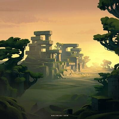 Nele diel peaceful ruins