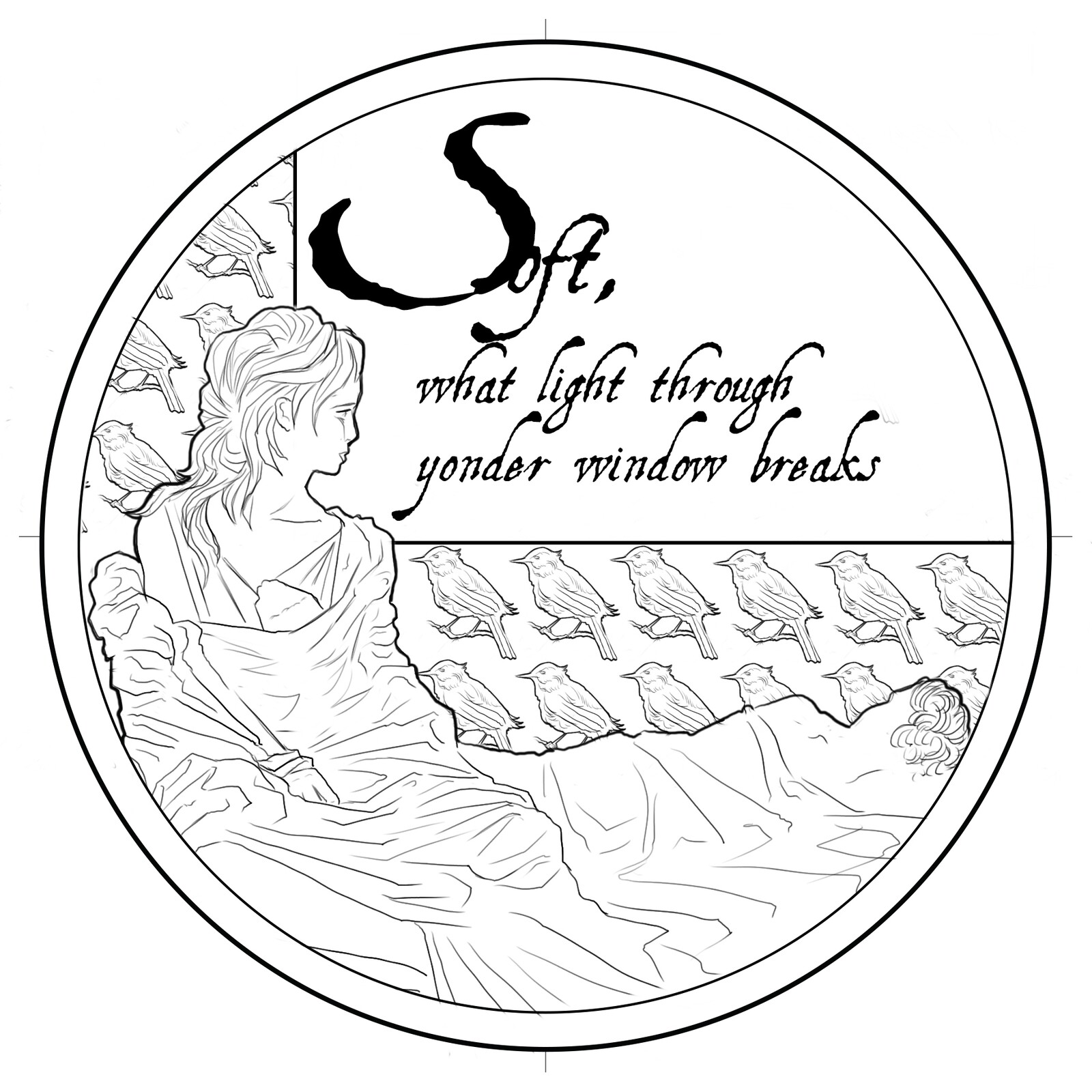 Design for Shakespeare medal series - Romeo and Juliet