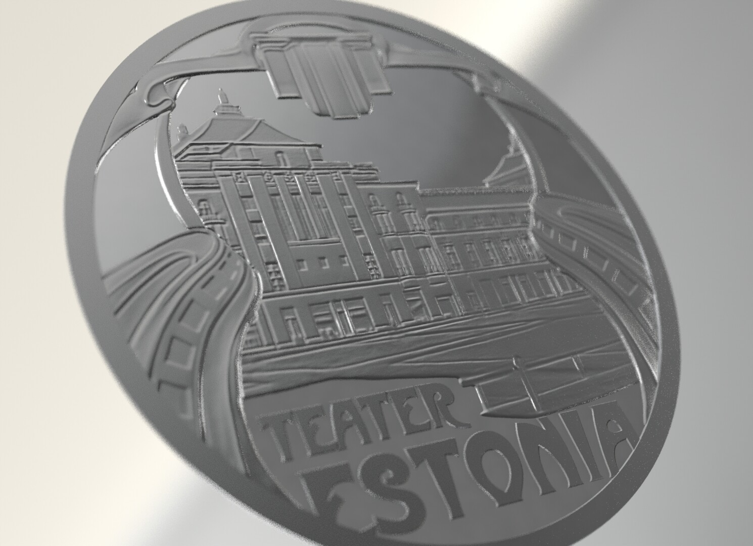 Relief for Estonian theatre coin