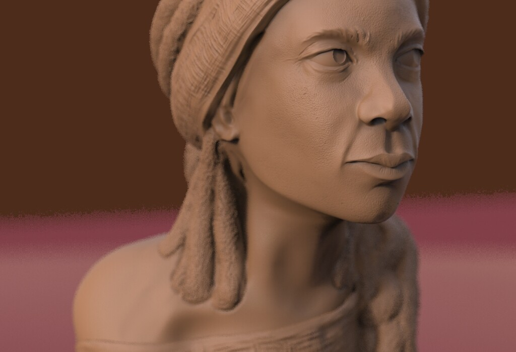 Sculpting experiment starting with a 'ball' in ZBrush
