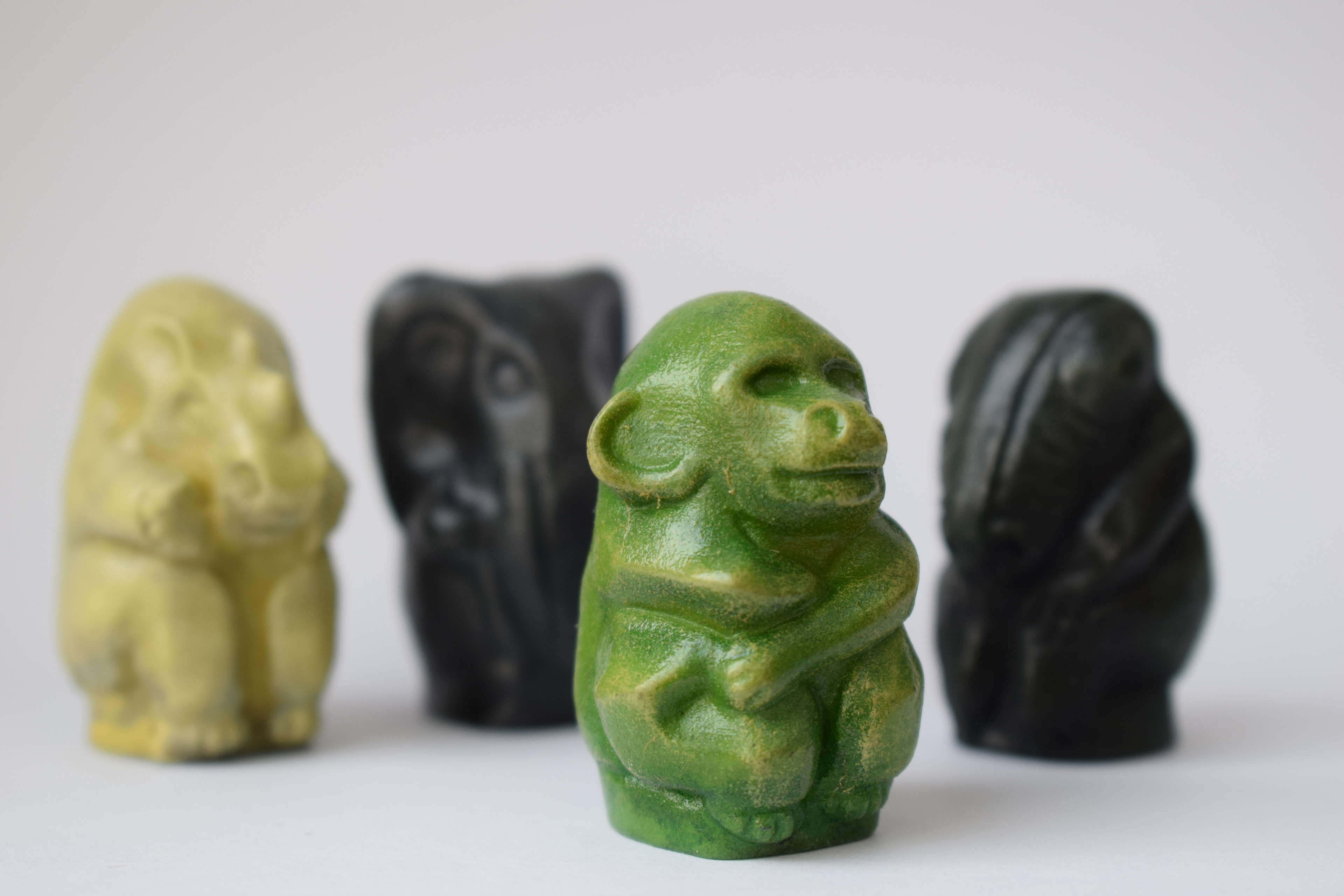 Jumanji game tokens. ZBrush and hand painted 3D print