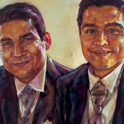 Luis e sierra retrato hector print