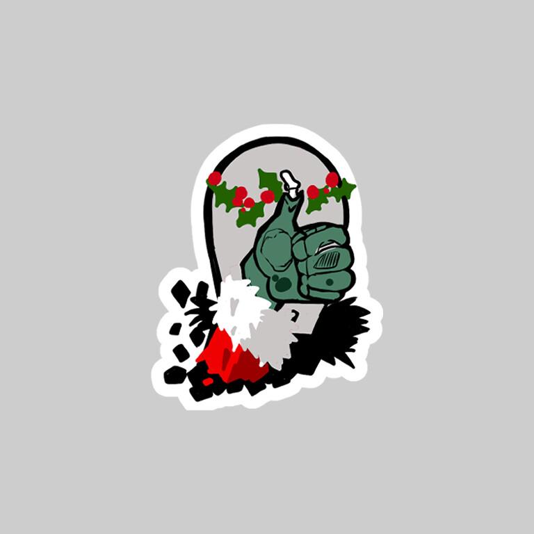 Zombie Thumbs-up holiday ed.