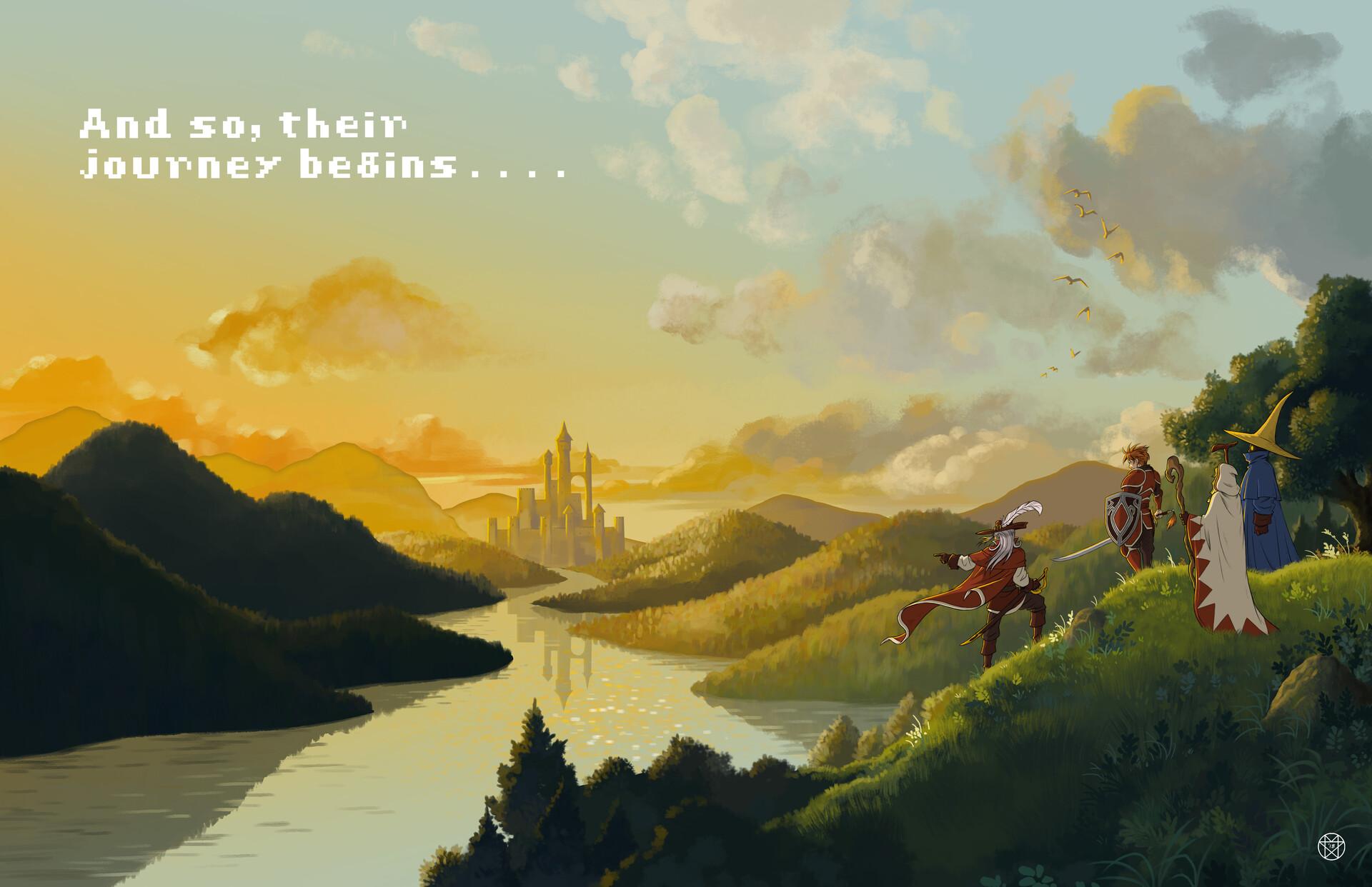 My reinterpretation of the title screen from the original Final Fantasy.