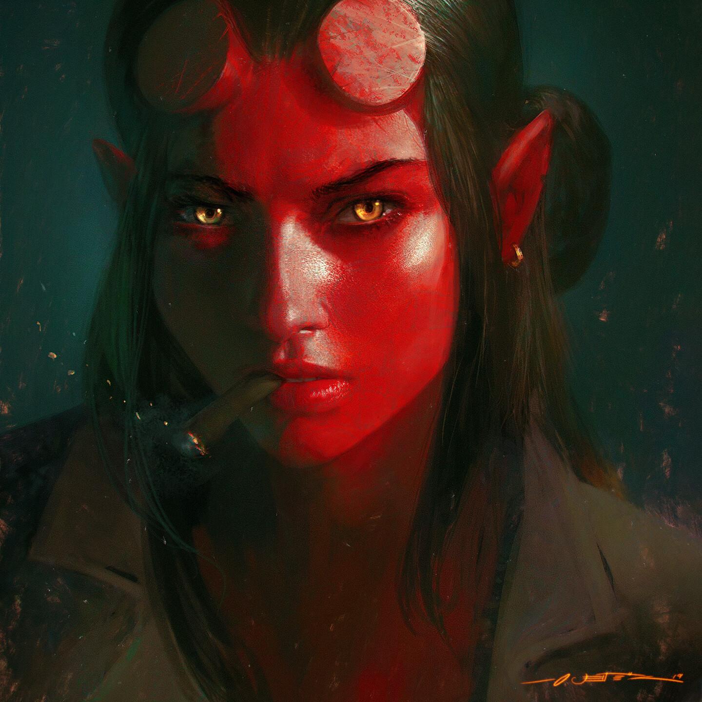 Hellgirl - Portrait Study