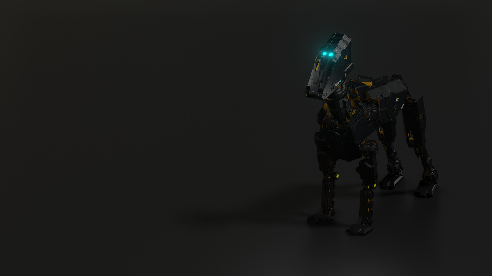Mecha Robo Dog - Blender EEVEE