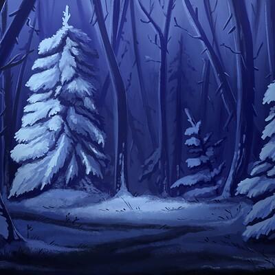 Oixxo art 2019 11 23 winter forest