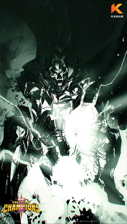 Doctor Doom wallpaper sketch A