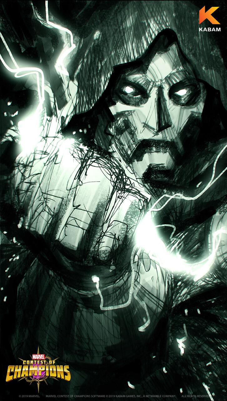 Doctor Doom wallpaper sketch C