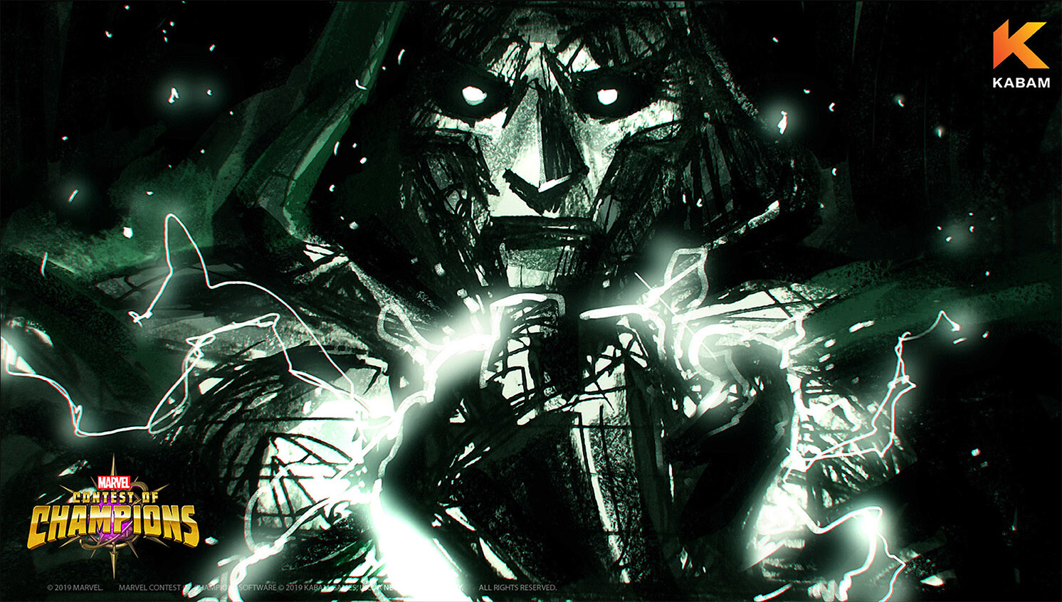 Doctor Doom wallpaper sketch D