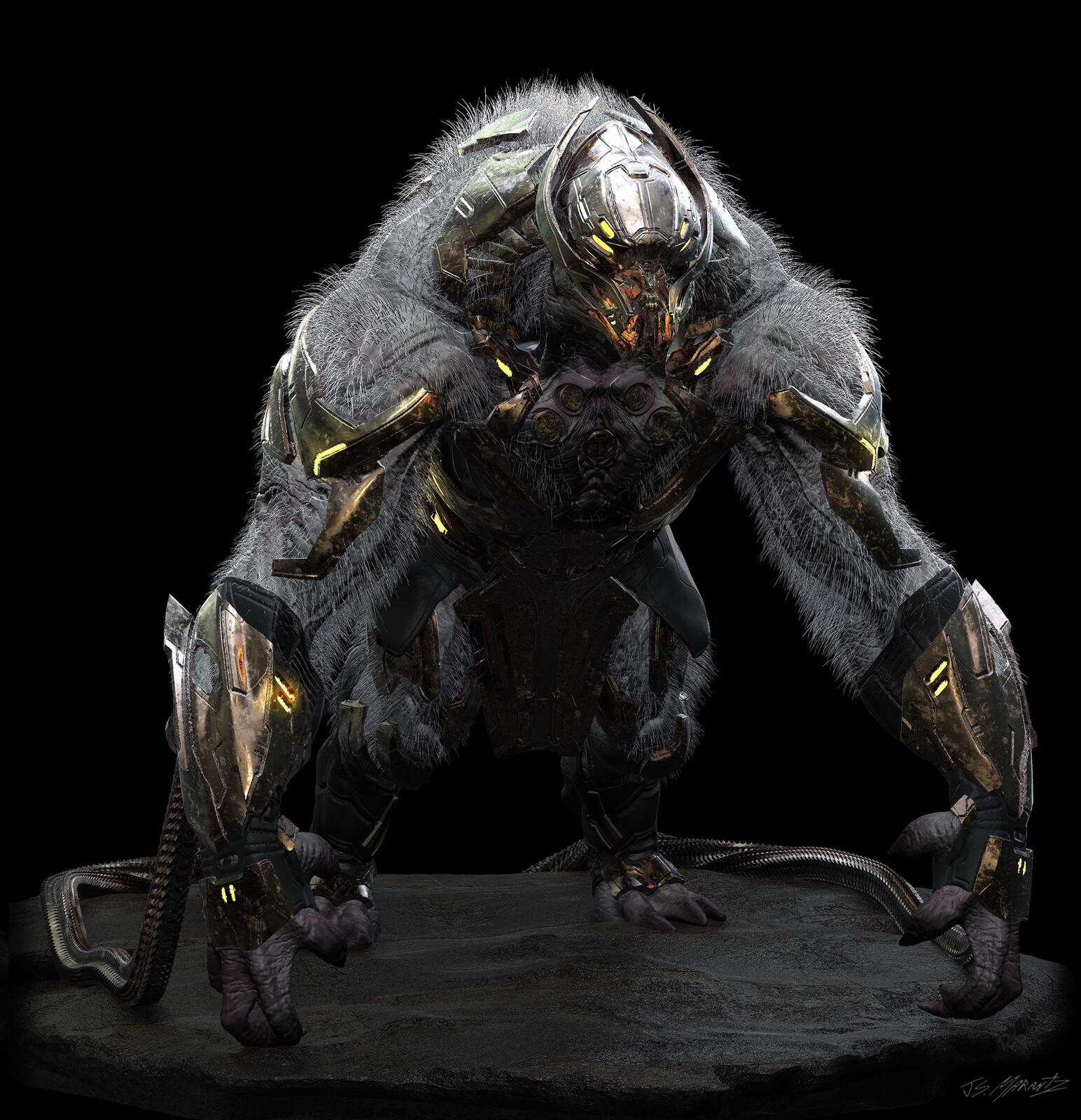 Avengers Endgame: Chitauri Gorilla Design