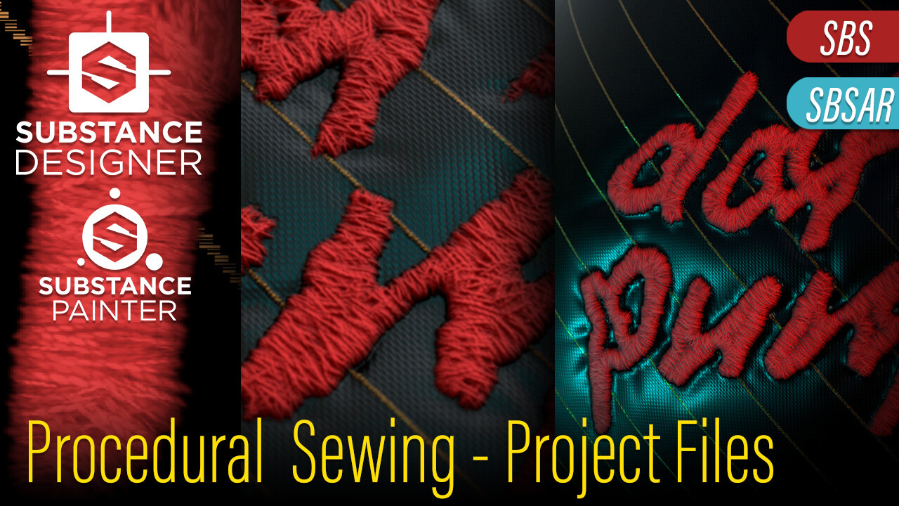This project is available on my Marketplace for use and study -> https://www.artstation.com/kumodot/store/M8gA/procedural-sewing-tool-sewing-tool-project-and-material