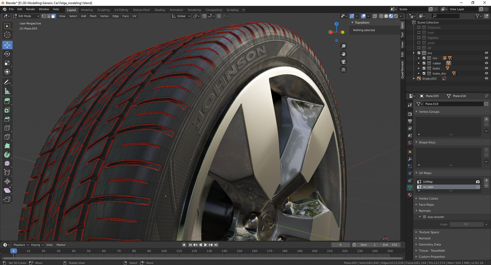 WIP 5: Tire modeling
