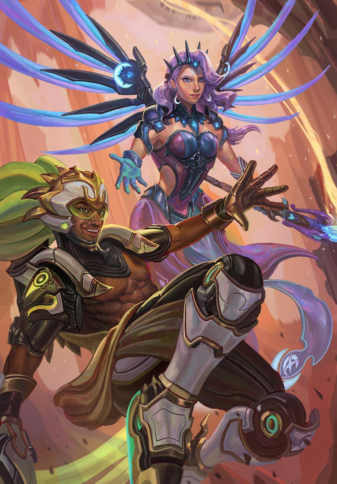 Overwatch: Atlantic Mercy and Pacific Lucio