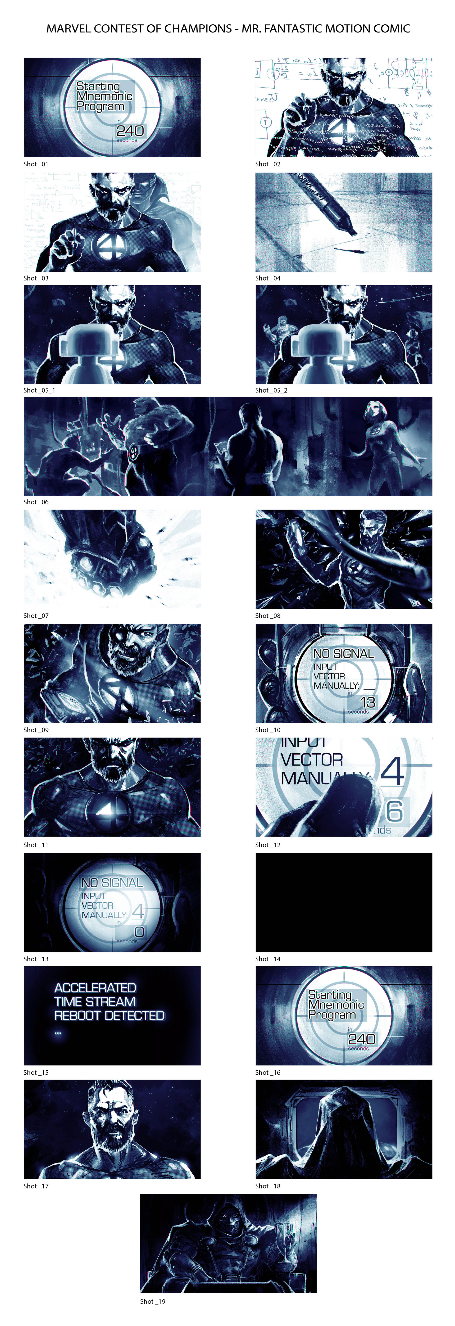 When Titans Clash! Motion Comic Storyboard - Marvel Contest of Champions