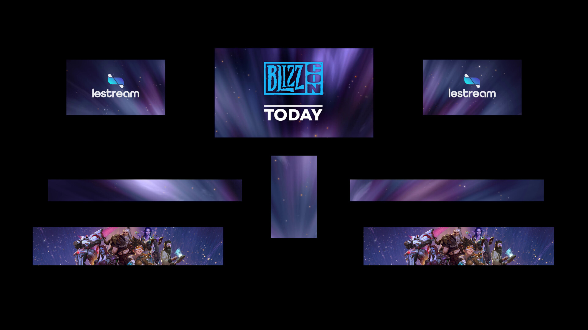 LeStream x BlizzCon - Paris Game Week - Scene displays.