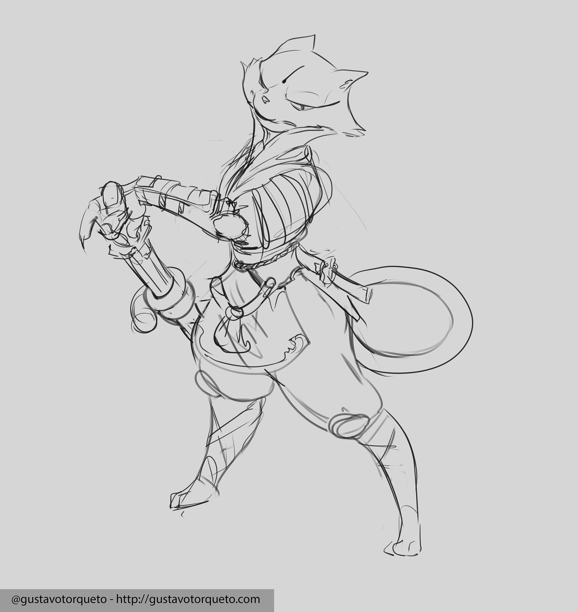 sketch for the character