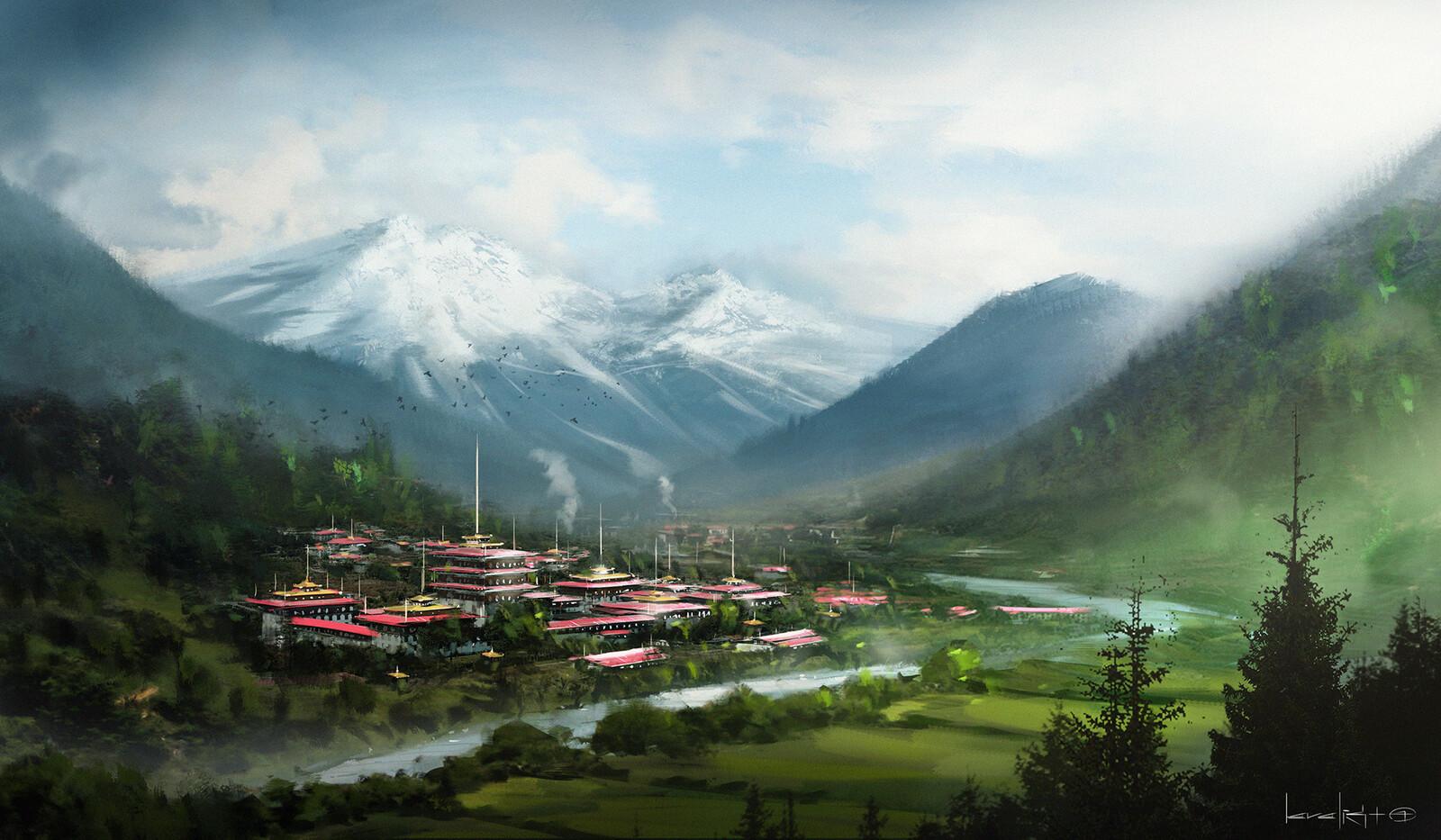 Bhutan landscape environment concept