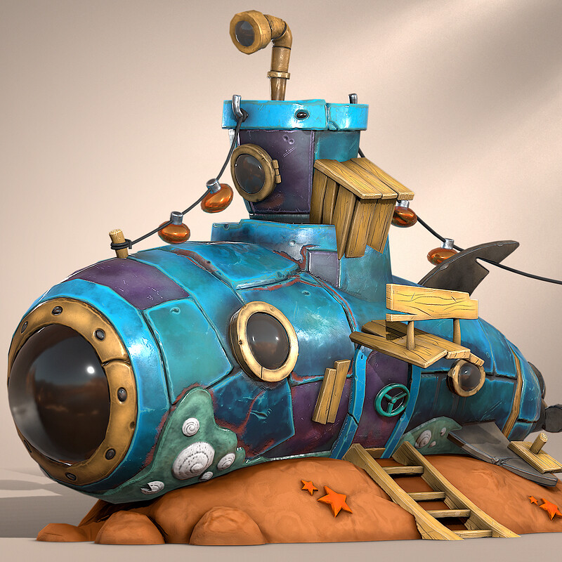 Stylized Submarine House