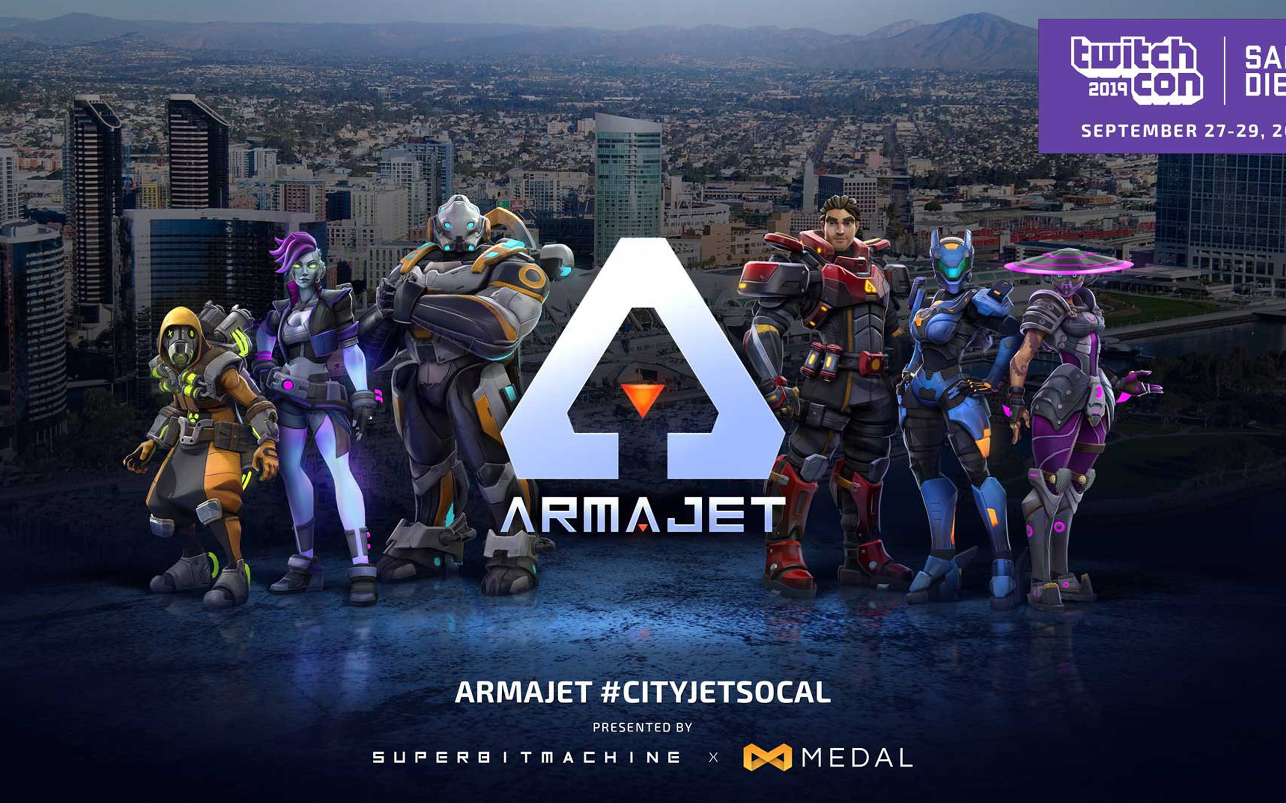 Promo art for ARMAJET. Can find some elements of my design on the 3rd character to the left :) All credit goes to the amazing artists with Super Bit Machine.
