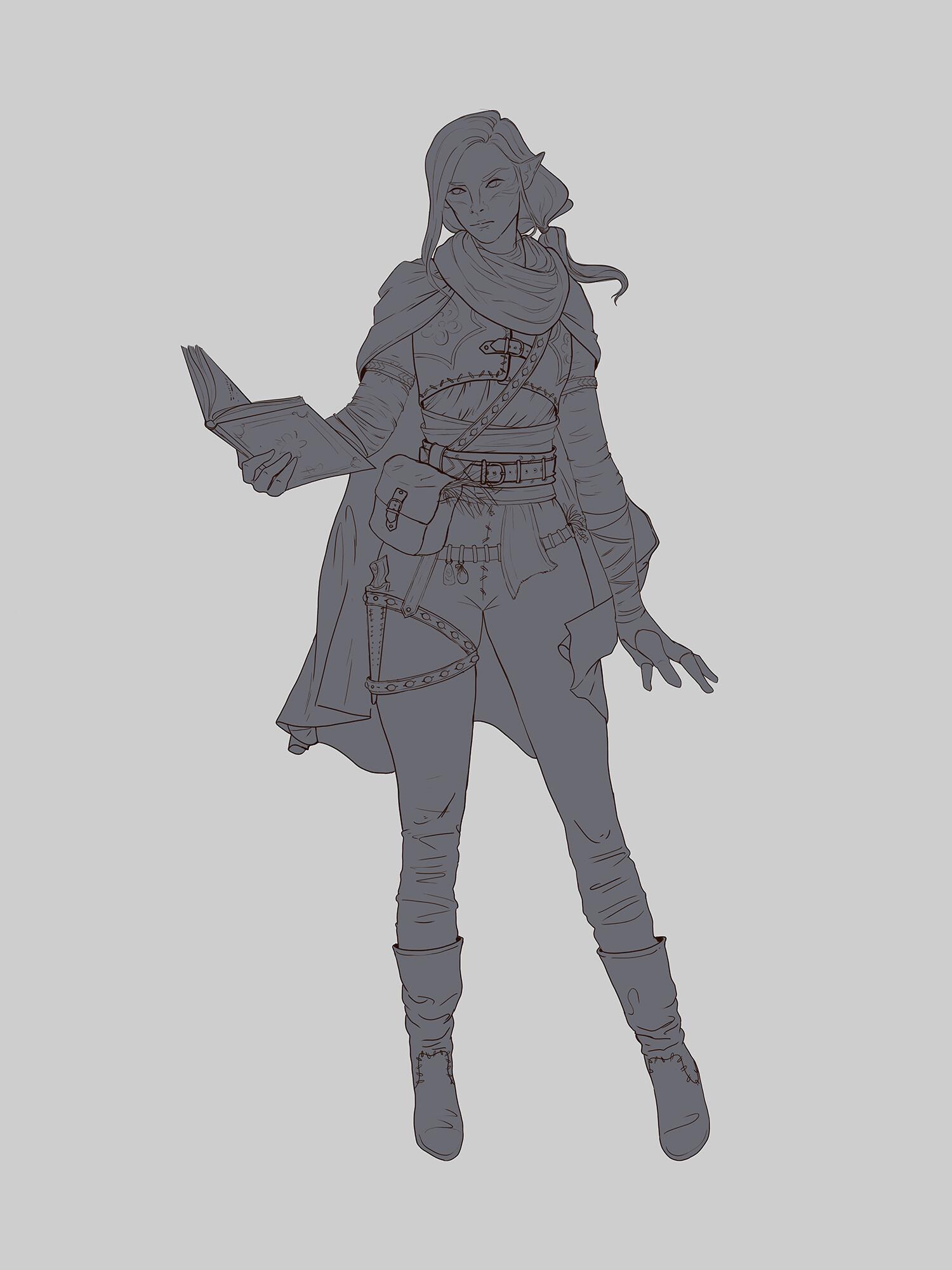 line art sketch