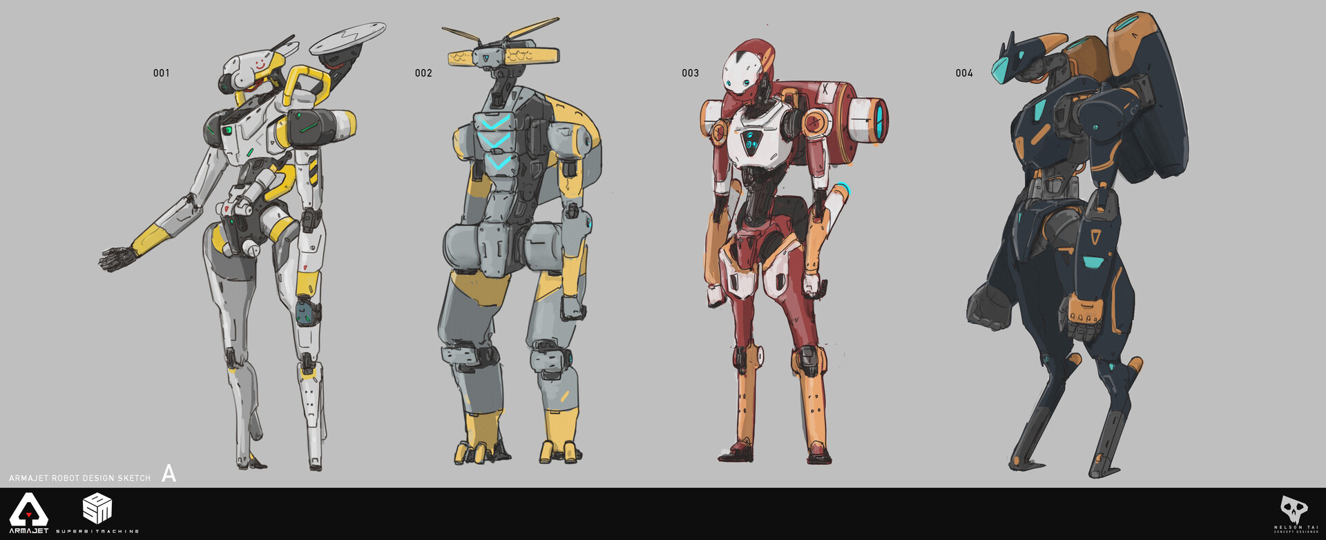 I can imagine #004 to be a really fast and agile robo.