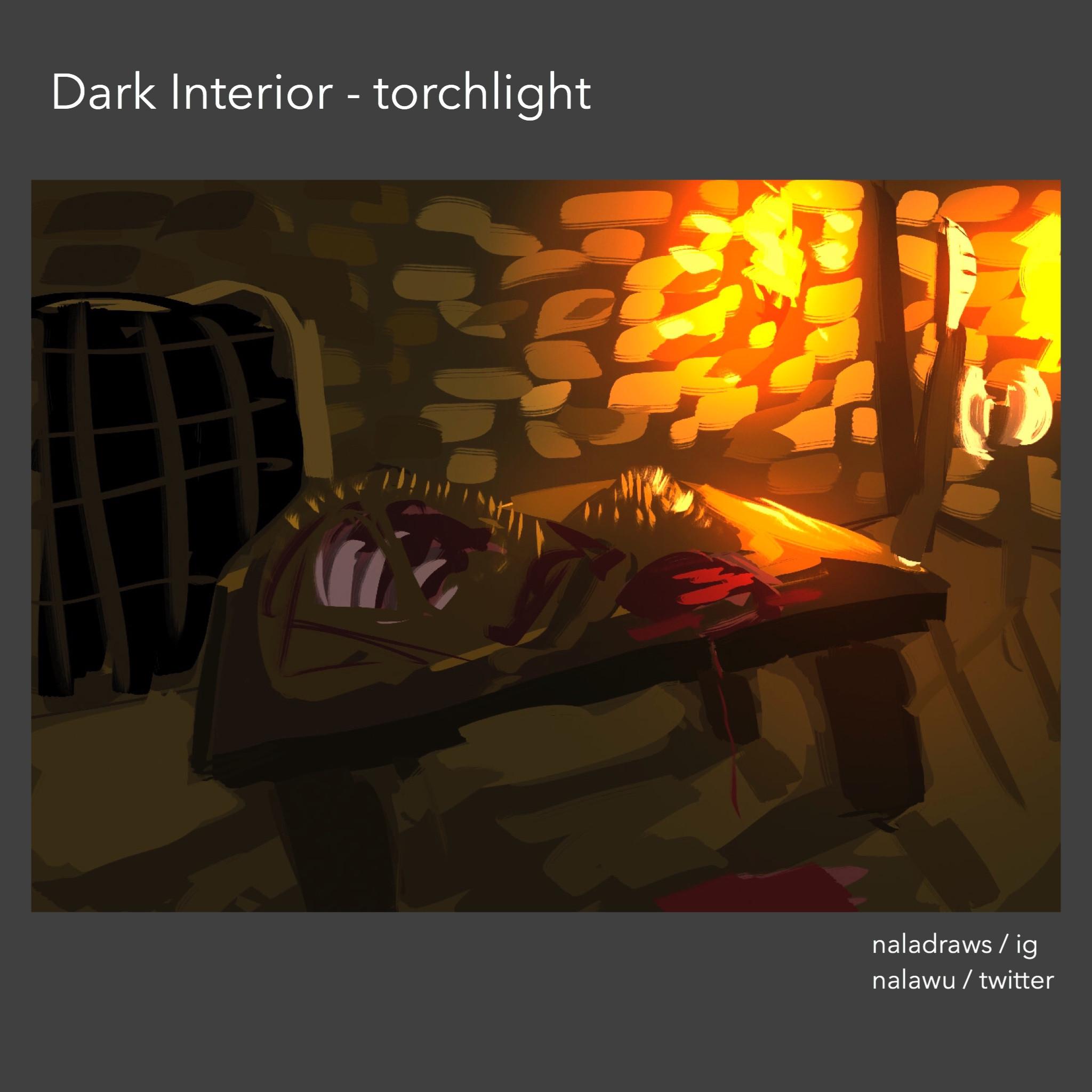 Dark Interior - Torchlight