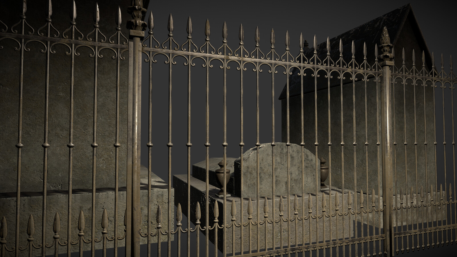 Low poly Cemetery game asset pack - detail