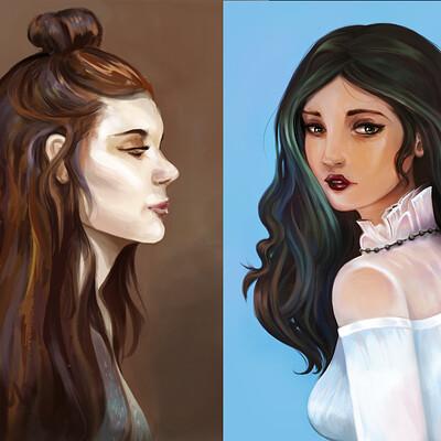 Josiah herman recent portrait illustrations