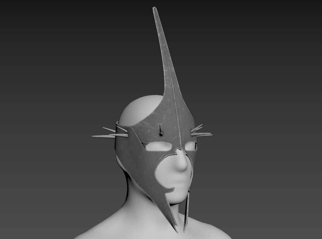 Fits on a human head