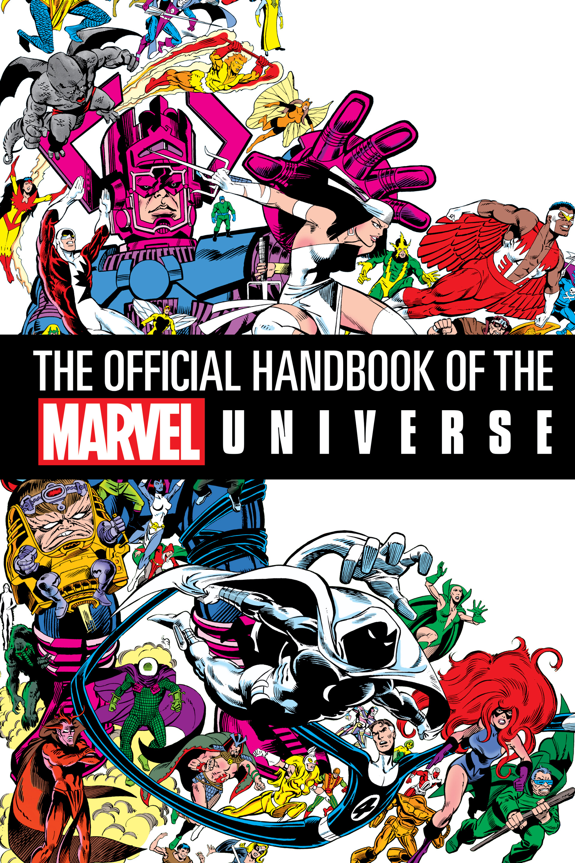 The Official Handbook of the Marvel Universe Half Title Page Design