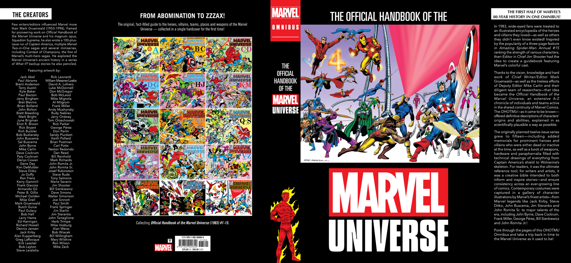 The Official Handbook of the Marvel Universe Complete Cover Design