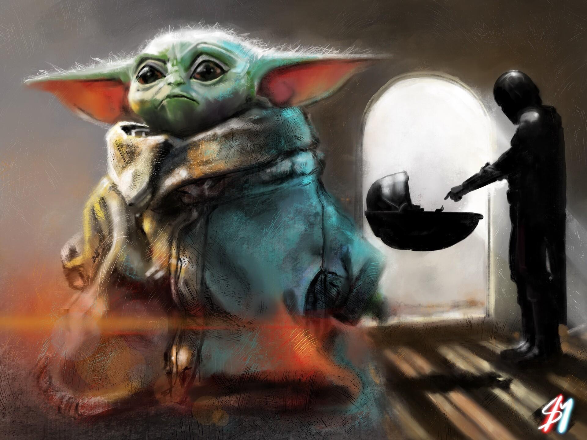 Artstation Baby Yoda Sean Miller