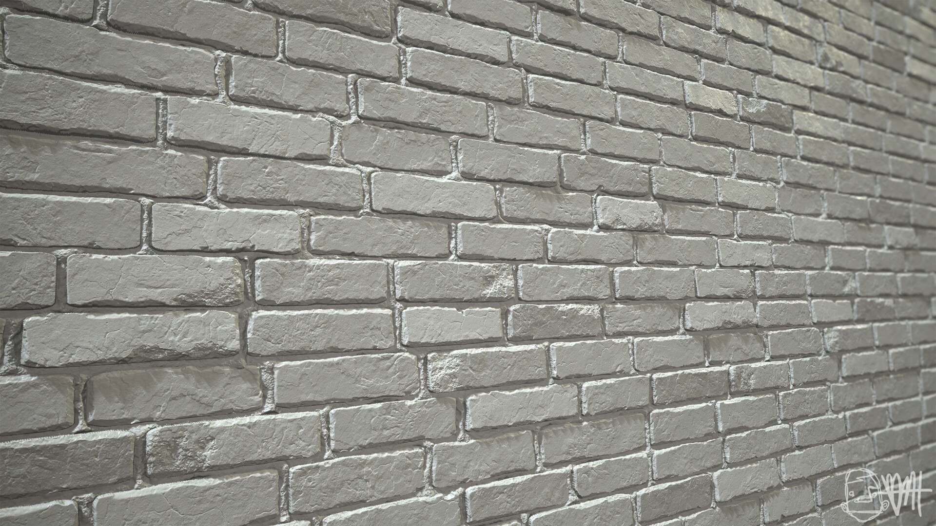 Brett marshall tucker damaged brick grayscale