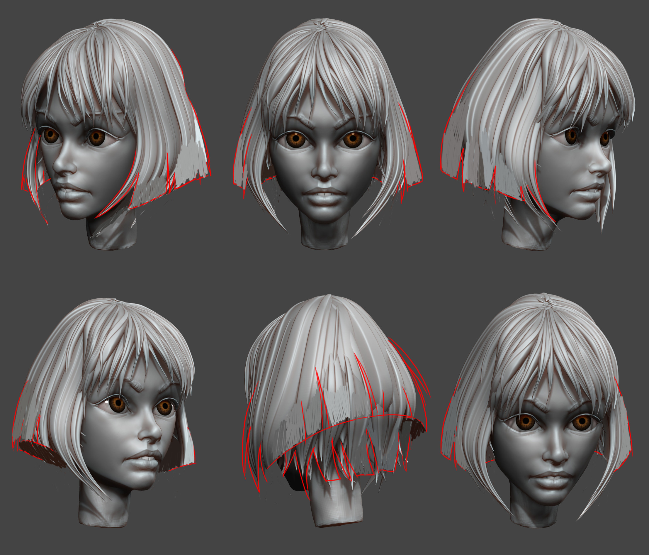Superfast sketches for improving head and hair volume.