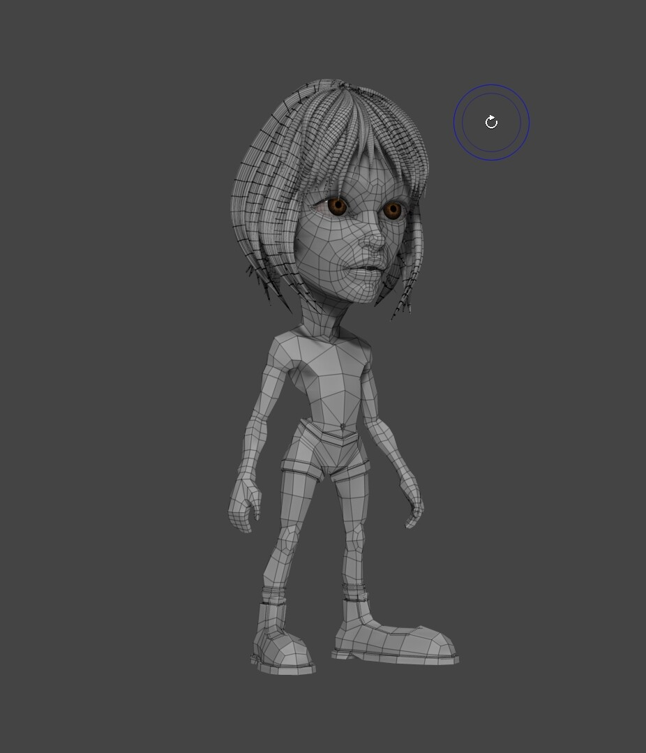 (Almost) final mathilda low poly topology.