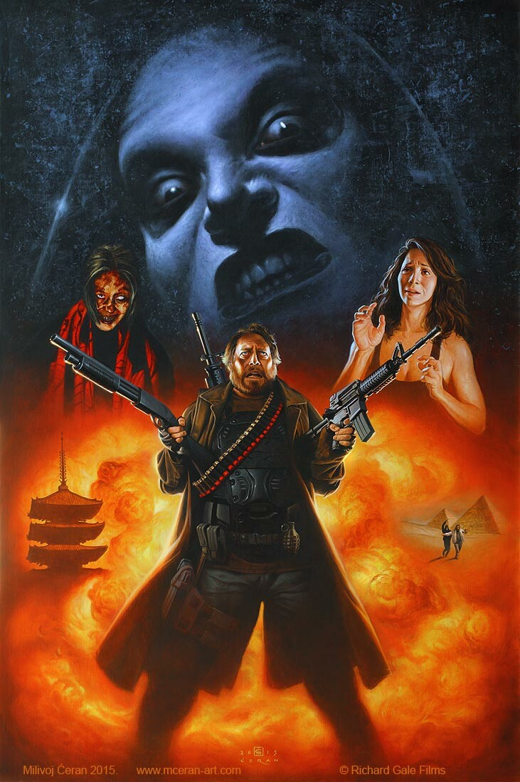 """Ginosaji"" movie poster (The Horribly Slow Murderer with the Extremely Inefficient Weapon), Milivoj Ćeran 2015. 