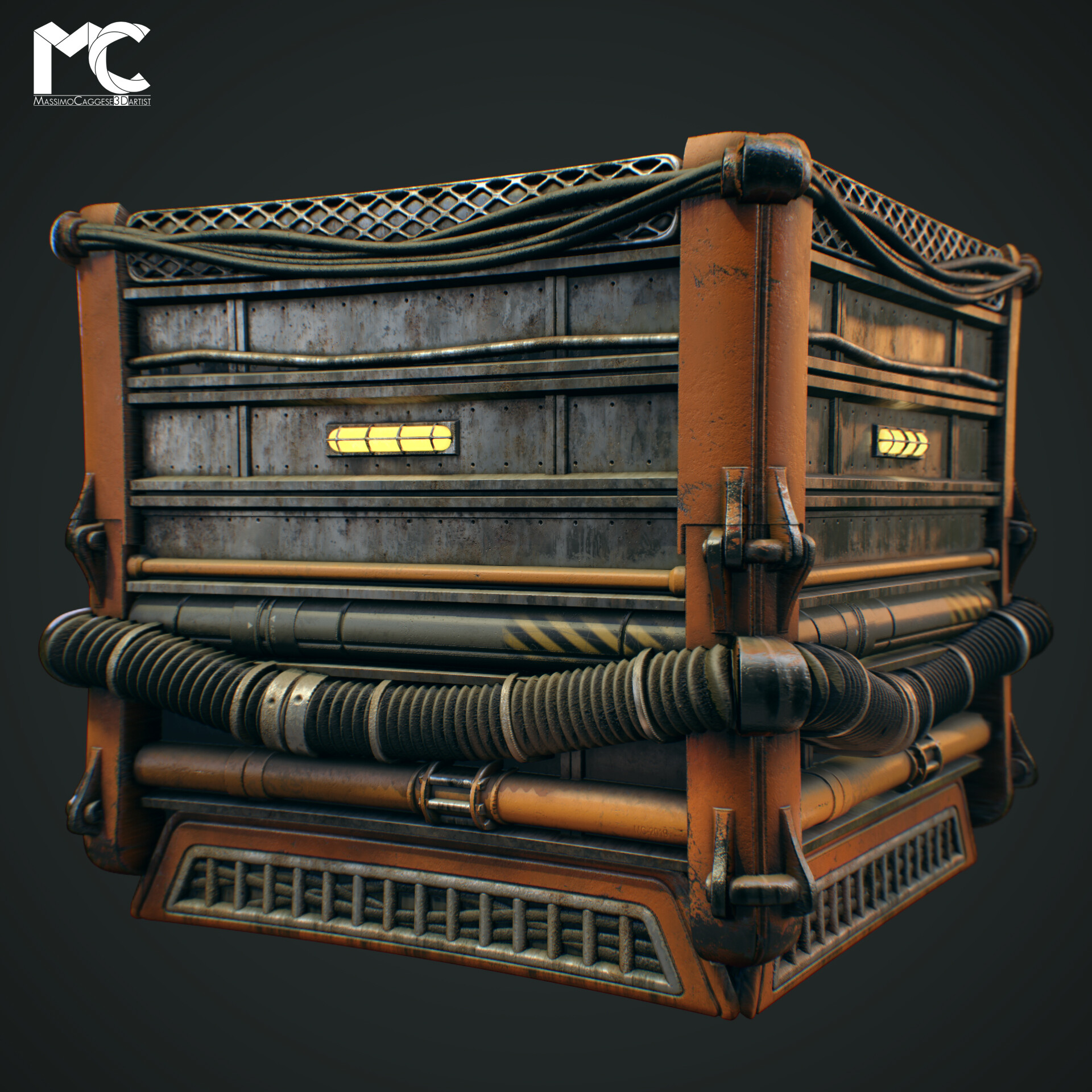 Cube view (Marmoset Toolbag 3).